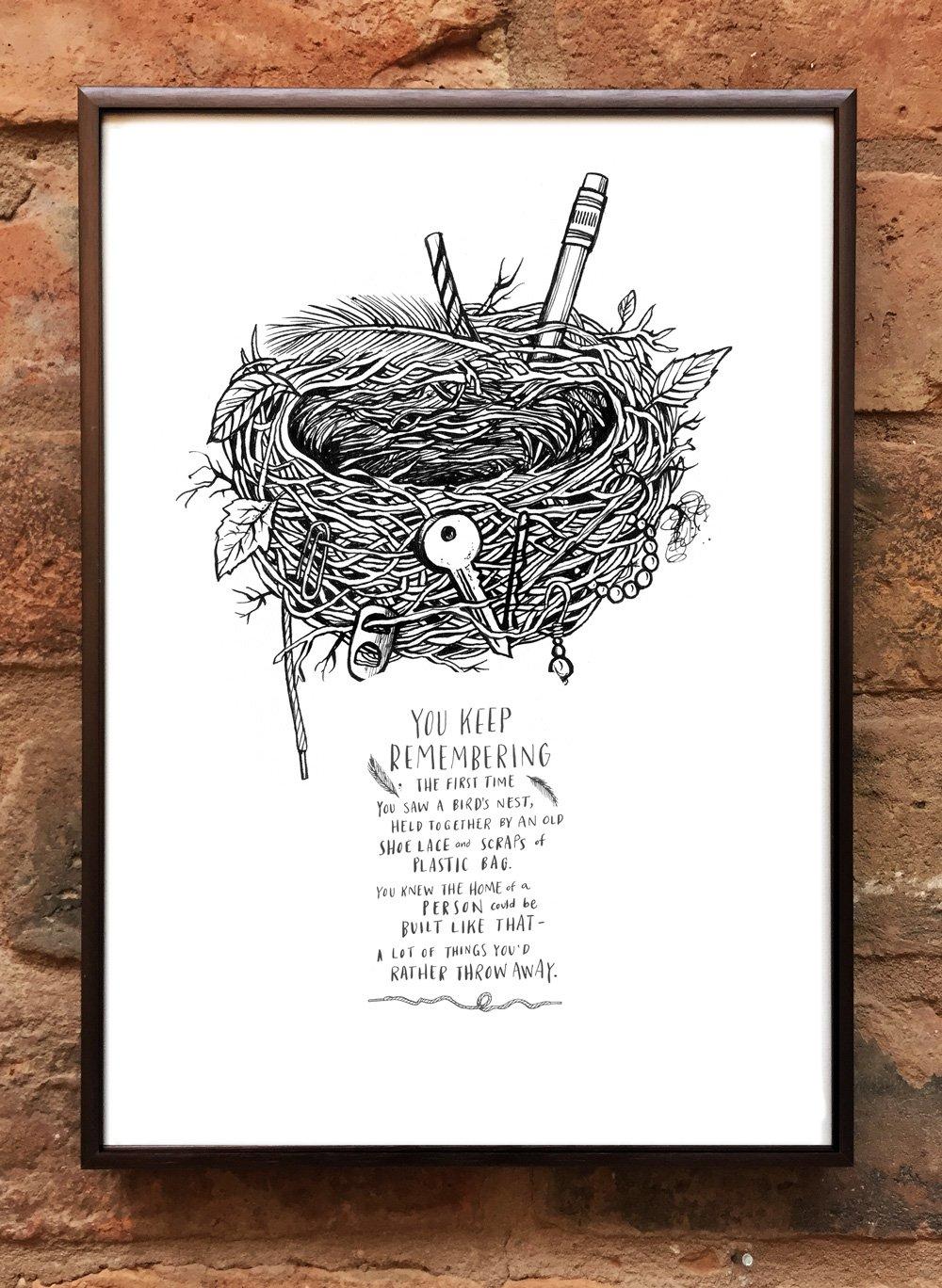 Andrea Gibson Print: 'Nest' / A4