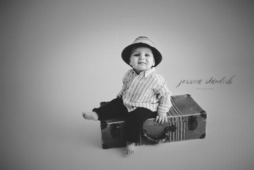 Image of Milestone Session | a single child studio petite session