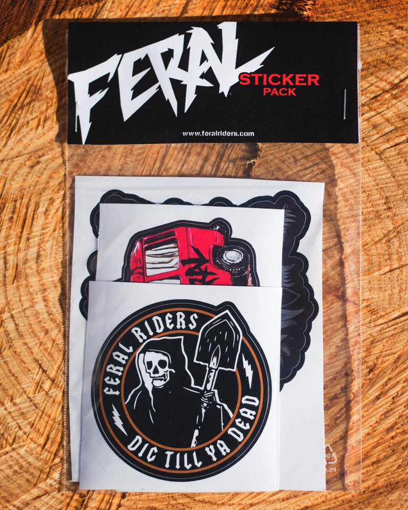 """Image of """"FERAL"""" STICKER PACK"""
