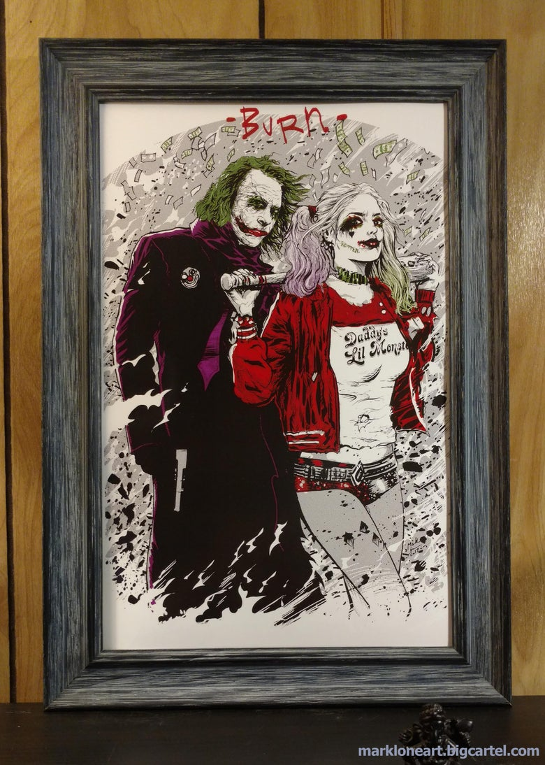 Image of Joker and Harley:BURN