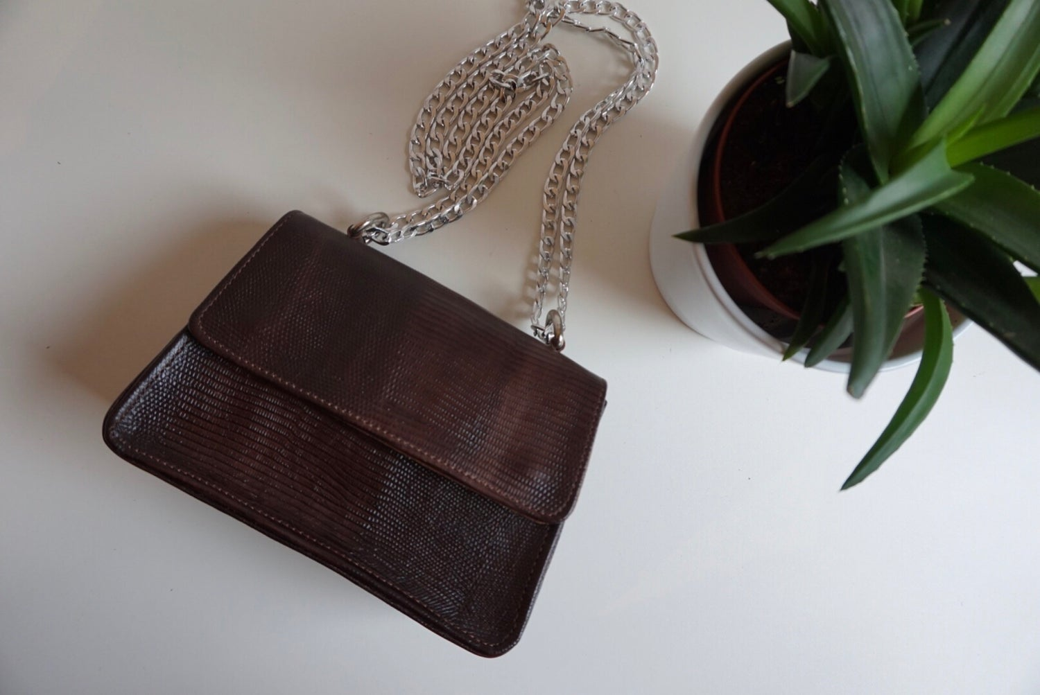 Image of Brown Mini Tee Bag