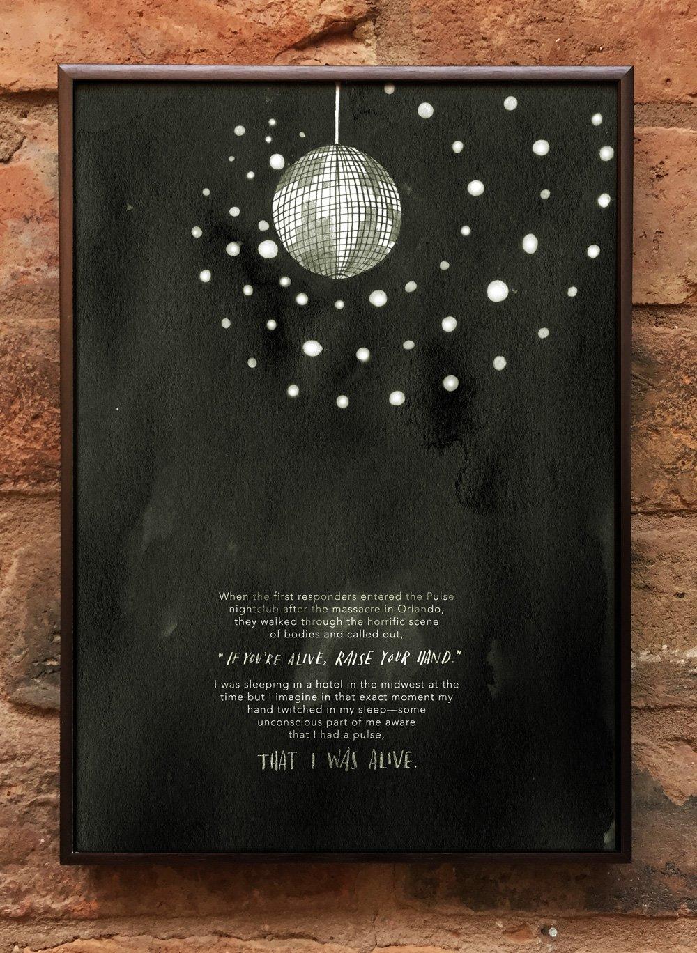 Andrea Gibson Print: 'Pulse' / A4