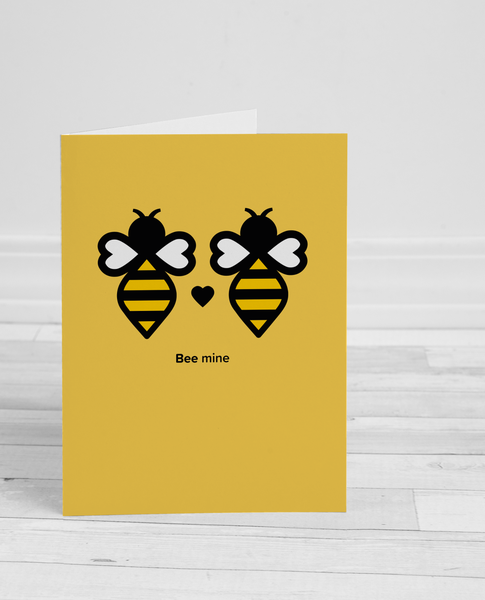Image of Bee Mine greeting card