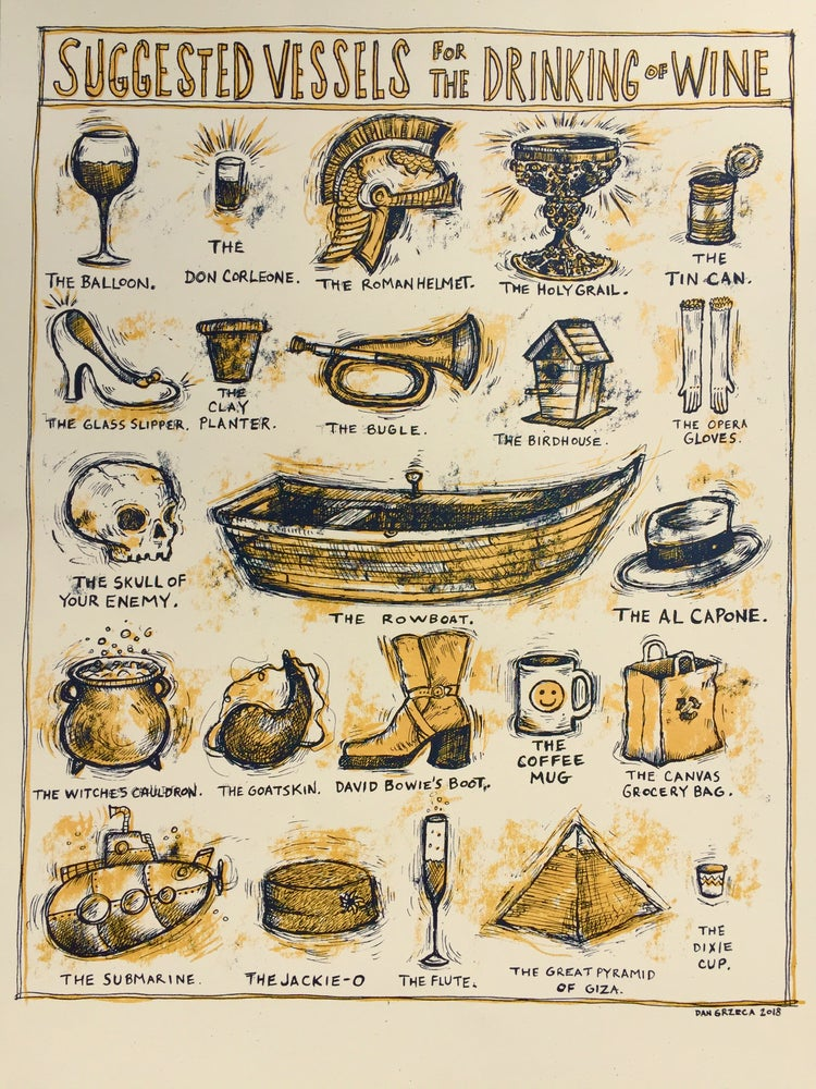 Image of Suggested vessels for the drinking of wine