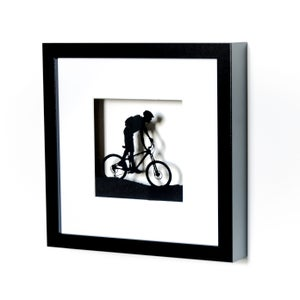 Image of Framed Mountain Bike Scene