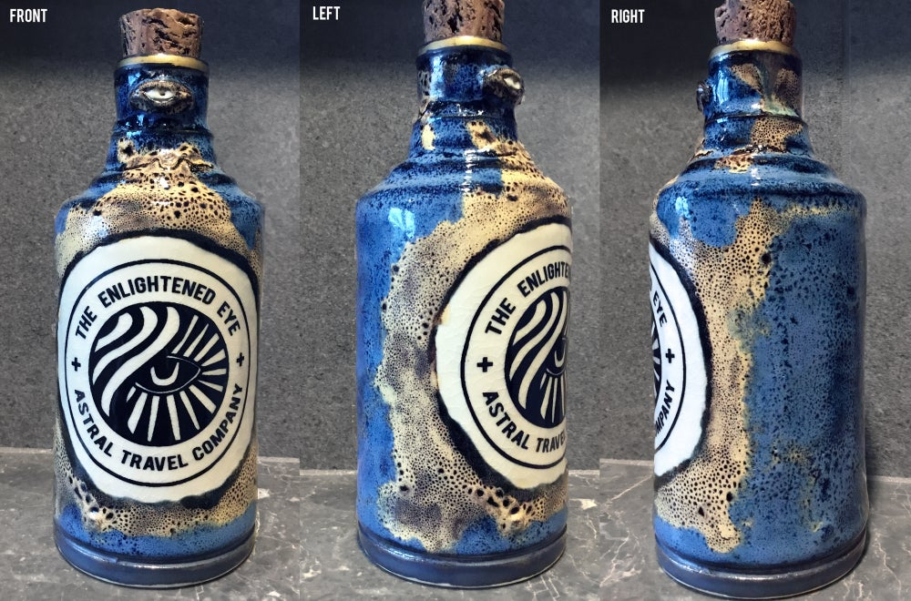 Image of Ceramic Bottle 3 - Blue Astral Travel