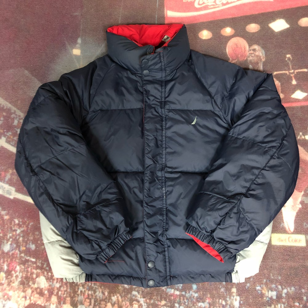 Image of Nautica Reversible Puffer Jacket - Size Large