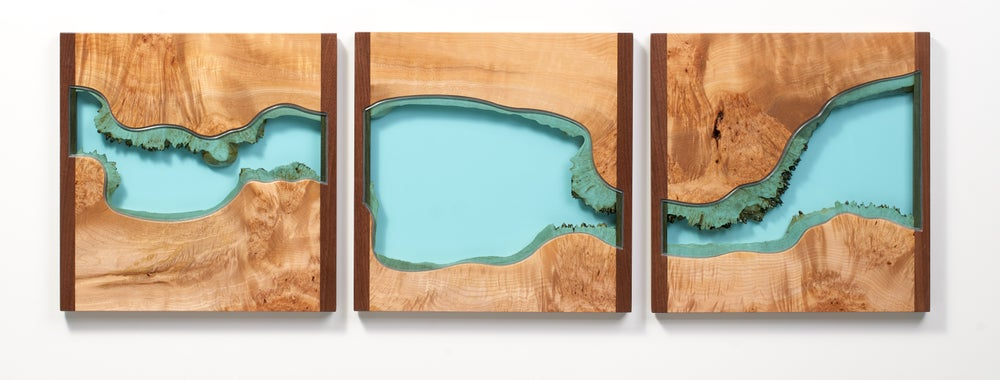 Image of river® divided triptych