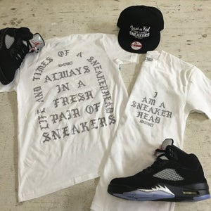 Image of I AM A SNEAKERHEAD (BLACK OR WHITE /SILVER) TSHIRT & HOODY