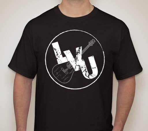 Image of Black LVU Logo T-shirt