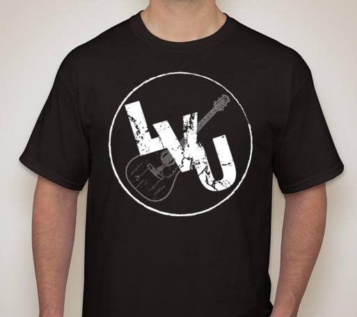 Image of Black LVU Logo T-shirt