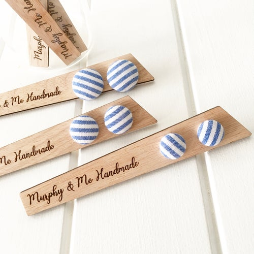 Image of Chambray Stripe stud earrings