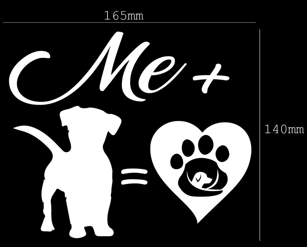 Image of Me + Dog = LOVE Sticker/Decal - Supporting GAAR SA INC.