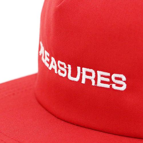 Image of PLEASURES - EURO SNAPBACK (RED)
