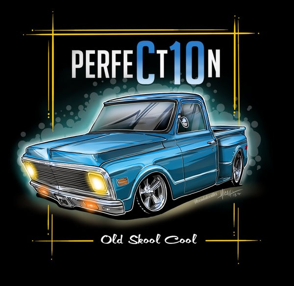 Image of Perfection 72 stepside blue
