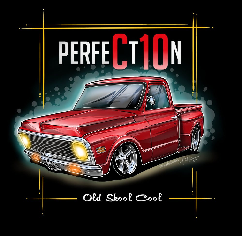 Image of Perfection 72 stepside red