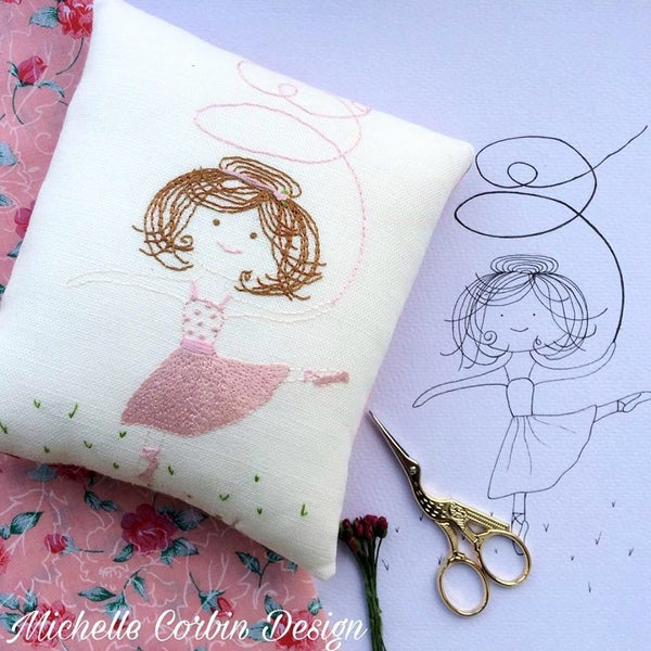 Image of Ballerina Embroidery Kit