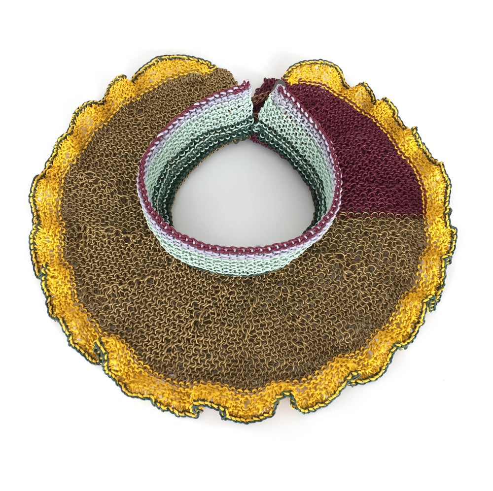 Image of Brooke Marks-Swanson Fantastical Landscape Yellow Furrow Collar, 2018