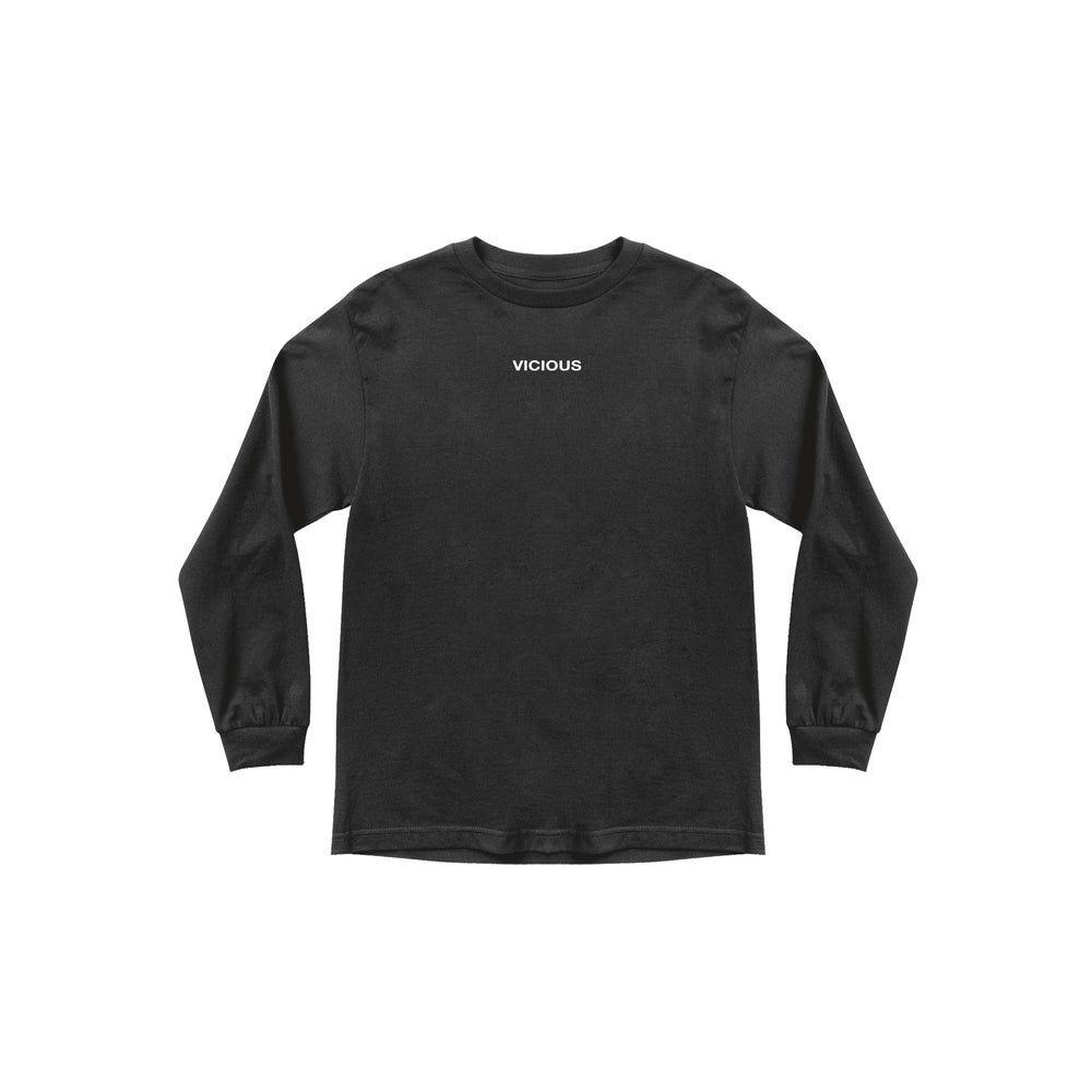 Image of Vicious Black LS tee