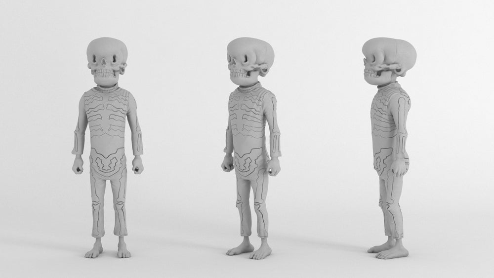 Image of Bone Trotters Art Figure Blank Edition by Matt Gordon