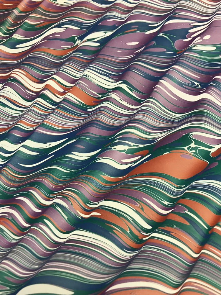 Image of Marbled Paper #15 'Technicolour Ripple'