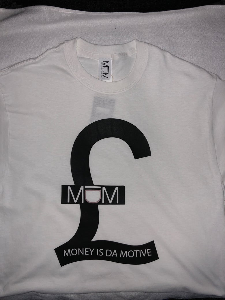 Image of MIDM White/Black £ Tee