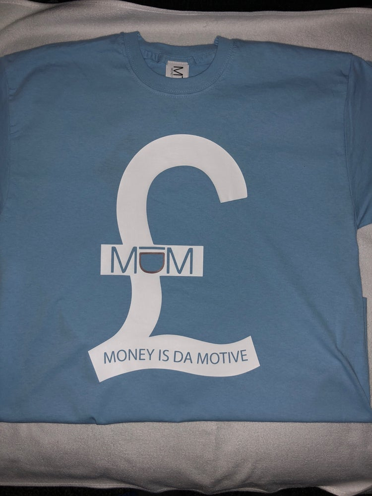 Image of MIDM Baby Blue/White £ Tee