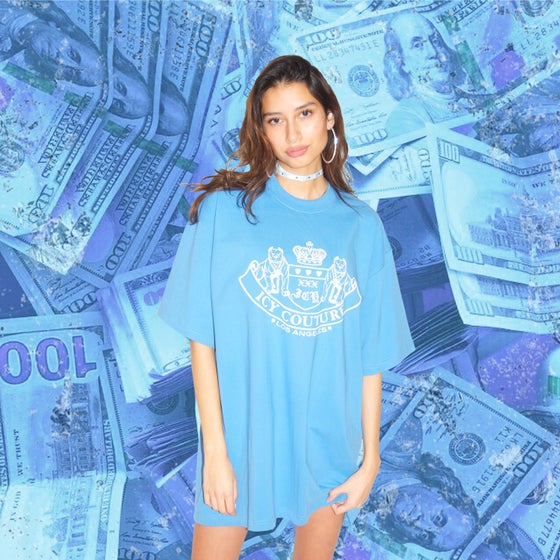 Image of Icy couture baby blue tshirt