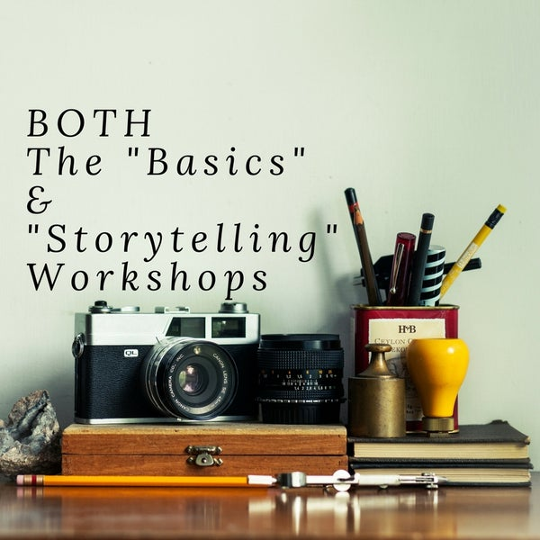 Image of Both The Basics and Storytelling Workshops