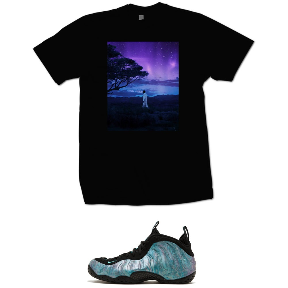 Image of BLACK PANTHER SKY T SHIRT - BLACK