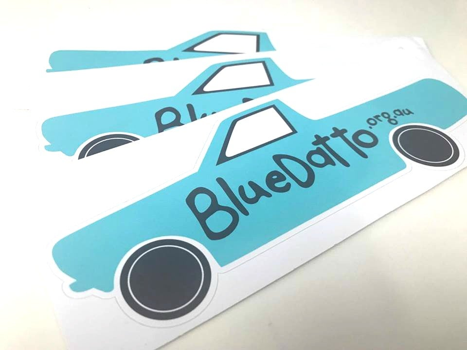 Image of Blue Datto Car Stickers- 2 for $5.00