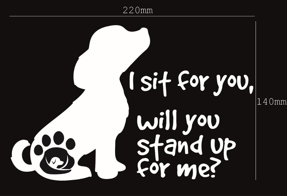 Image of I sit for you, will you stand up for me?  Sticker/Decal - Supporting GAAR SA INC.