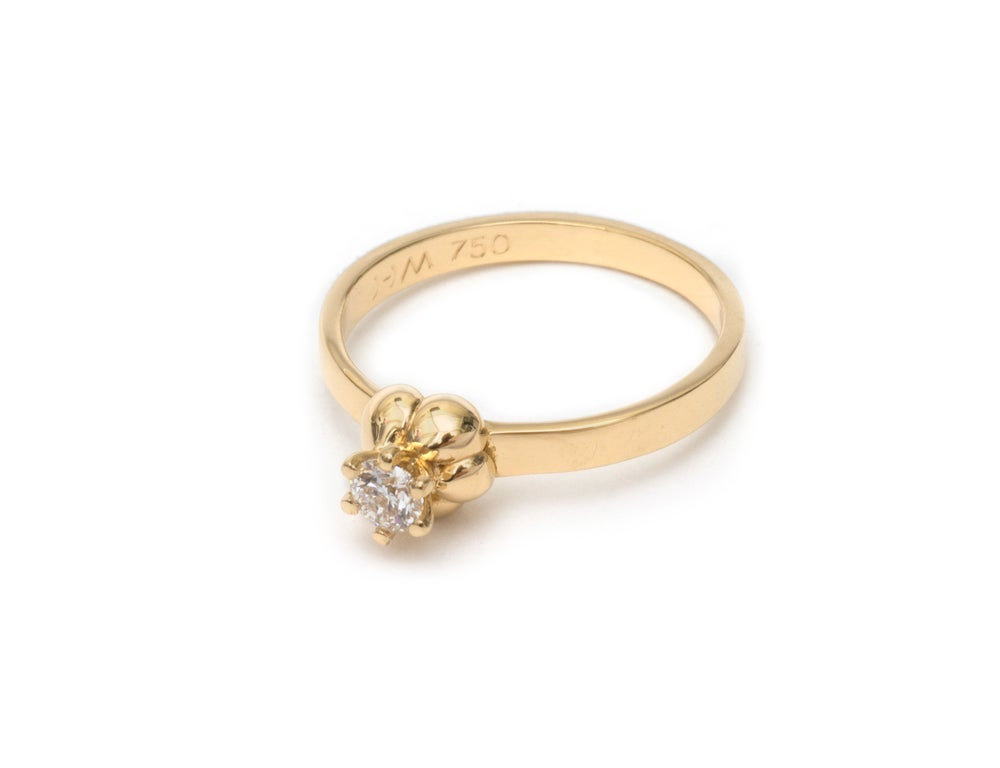 Image of Solitaire Diamond Froth Ring