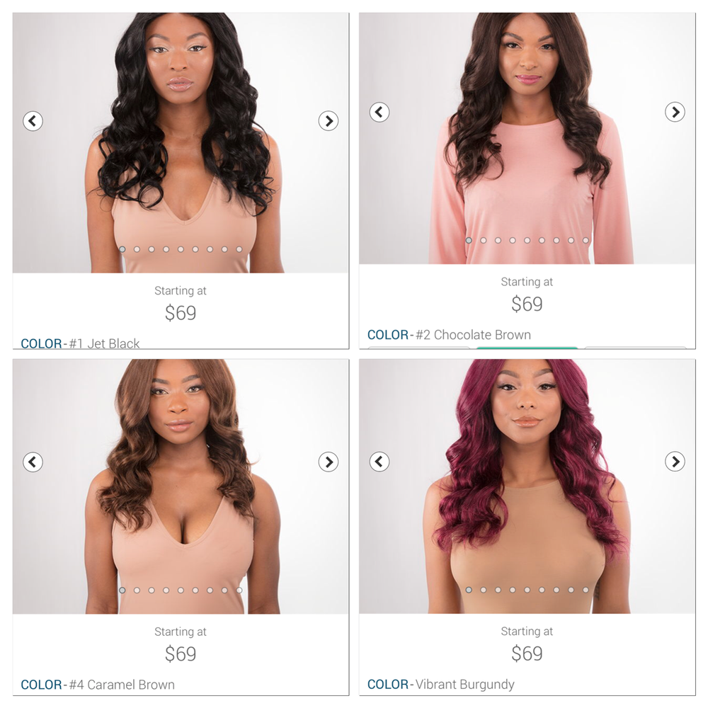 "Image of Pre colored bundles 10""-26"" starting at"