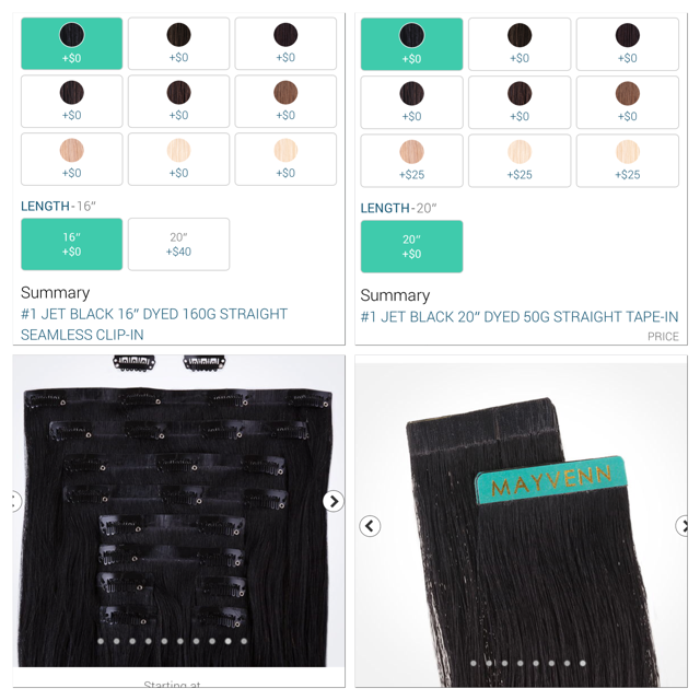 """Image of 160g-220g Clip Ins 16""""-20"""" and 50g Tape Ins starting at"""