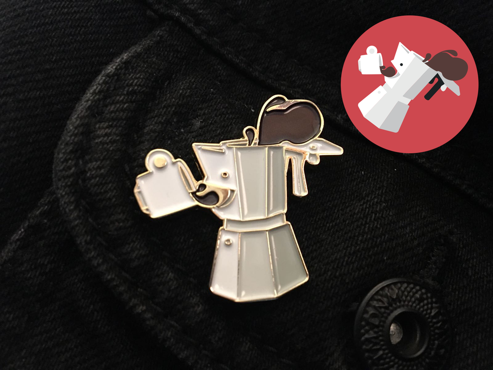 Image of I Want Coffee! Enamel pin