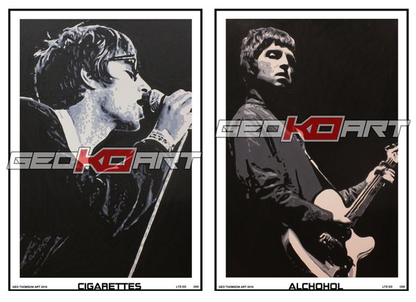Image of OASIS - DOUBLE PRINT SET 'Cigarettes & Alchohol'