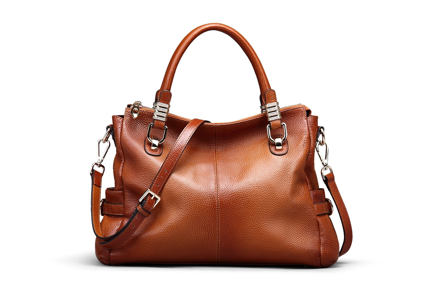 5 Colors Women Full Grain Leather Vintage Tote Shoulder Bag Top Handle Crossbody Handbags Sl9333
