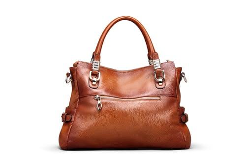 Image of 5 Colors Women Full Grain Leather Vintage Tote Shoulder Bag Top-handle Crossbody Handbags SL9333
