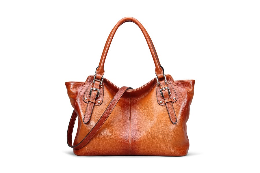 Image of Genuine Leather Top Handle Satchel Handbag Tote Shoulder Bag Purse Crossbody Bag for Women SL9456
