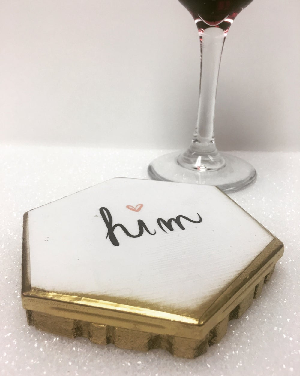 Image of Wine Glass Cover -Him