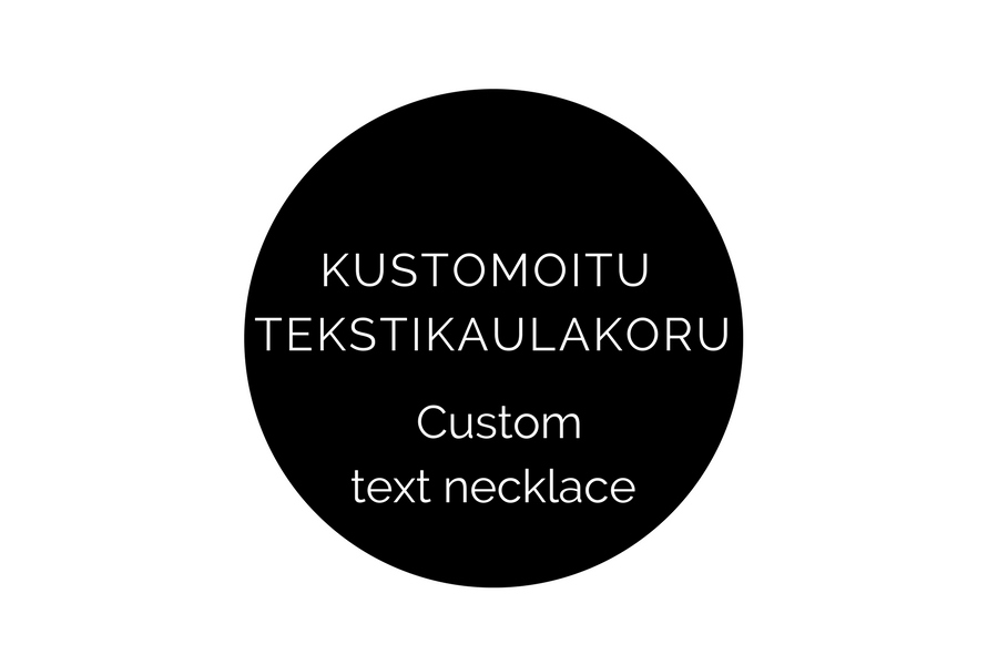 Image of Kustomoitu tekstikaulakoru / custom text necklace (9 mm x 39 mm)