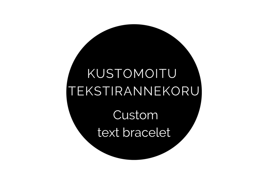 Image of 9 mm tekstirannekoru omalla tekstilläsi (1 rivi) / Custom text bracelet 9 mm (1 line)