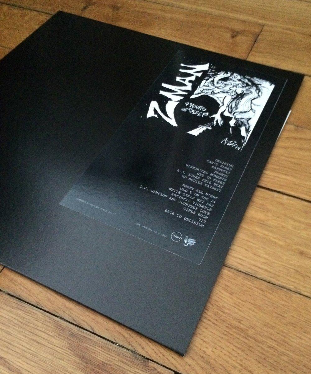 Image of Z-MAN - 4 HOURS OF SLEEP LP