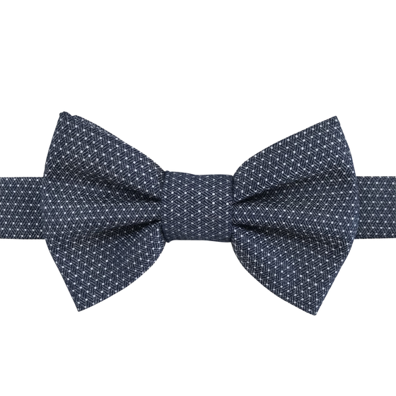 Image of mini dot chambray bow tie