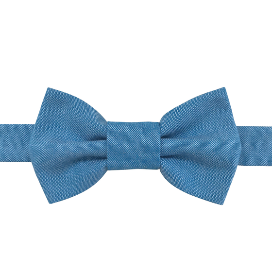 Image of lake chambray bow tie