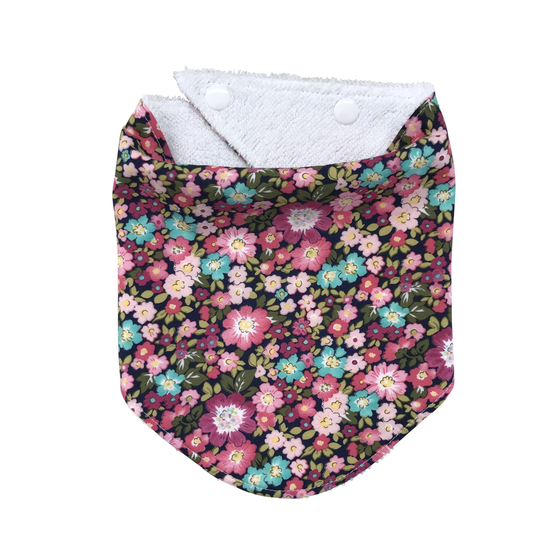 Image of floral dribble bib