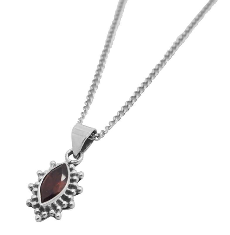Image of Garnet Selene Necklace