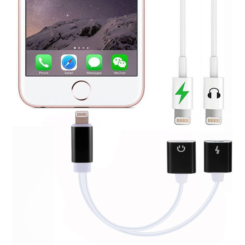 Image of Dual 2 iPhone Audio & Charger Cable