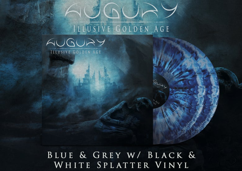 Image of AUGURY - Illusive Golden Age - DOUBLE LP [Blue & Grey w/ Black & White Splatter]